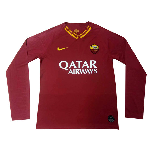 Camisetas del As Roma Manga Larga Primera 2019-2020